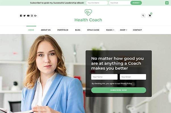 Blossom Health Coach Theme
