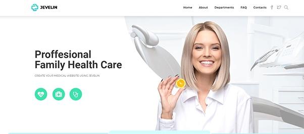 Jevelin Paid WordPress theme Allied Health